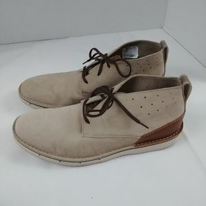 Clarks Capler Ankle Boot Sand Suede Size 12